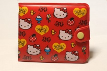 Кошелек Hello Kitty винил RED